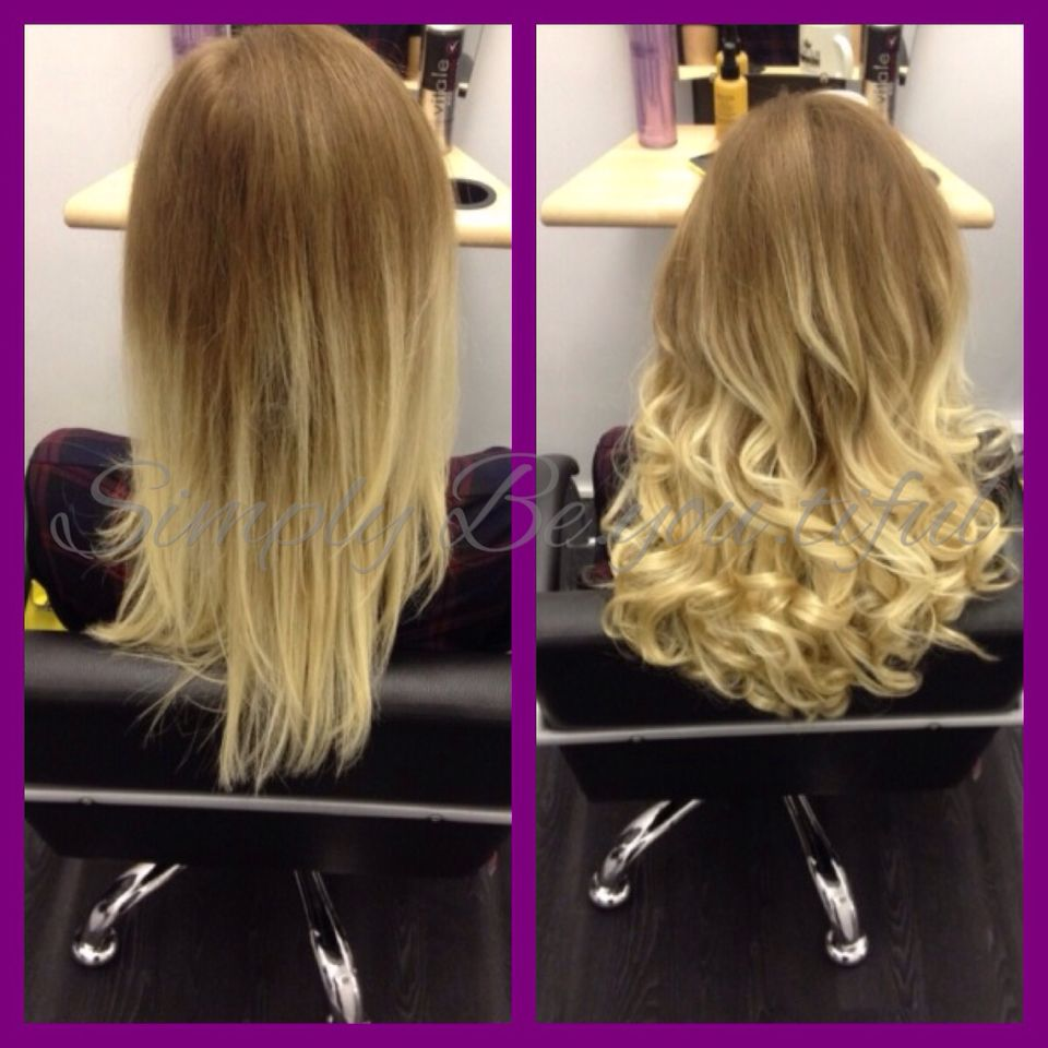 2 rows of micro link weft extensions 💕 Long hair styles