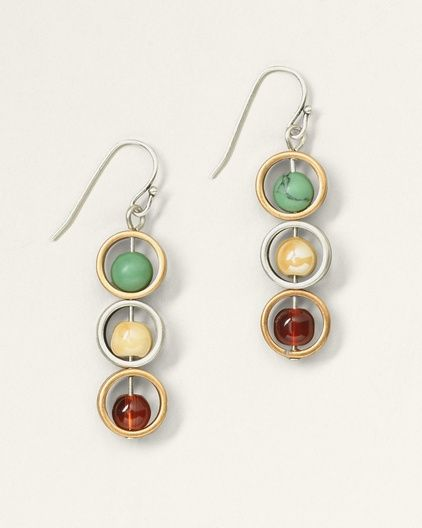 Bead and Ring Earrings - Coldwater Creek