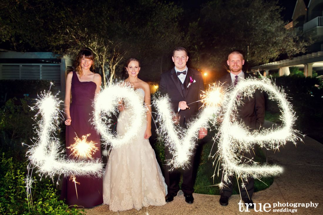 A Wedding Night With Fireworks And Sparklers See More At Www Truephotographyweddings From Our Blog Pinterest
