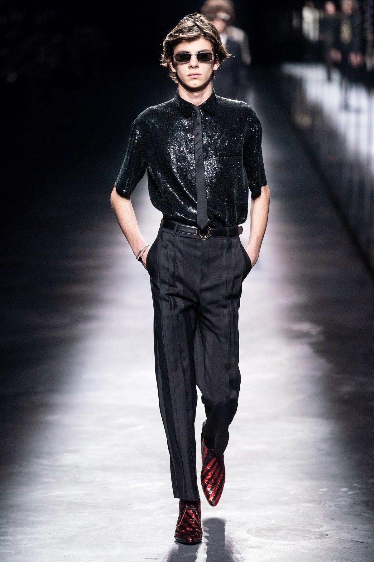 Tous Les Looks Homme Du Defile Saint Laurent Automne Hiver 2019 2020 Idees De Mode Look Homme Style Homme