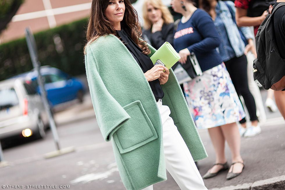 minty fresh. #ChristinaPitanguy in Milan.