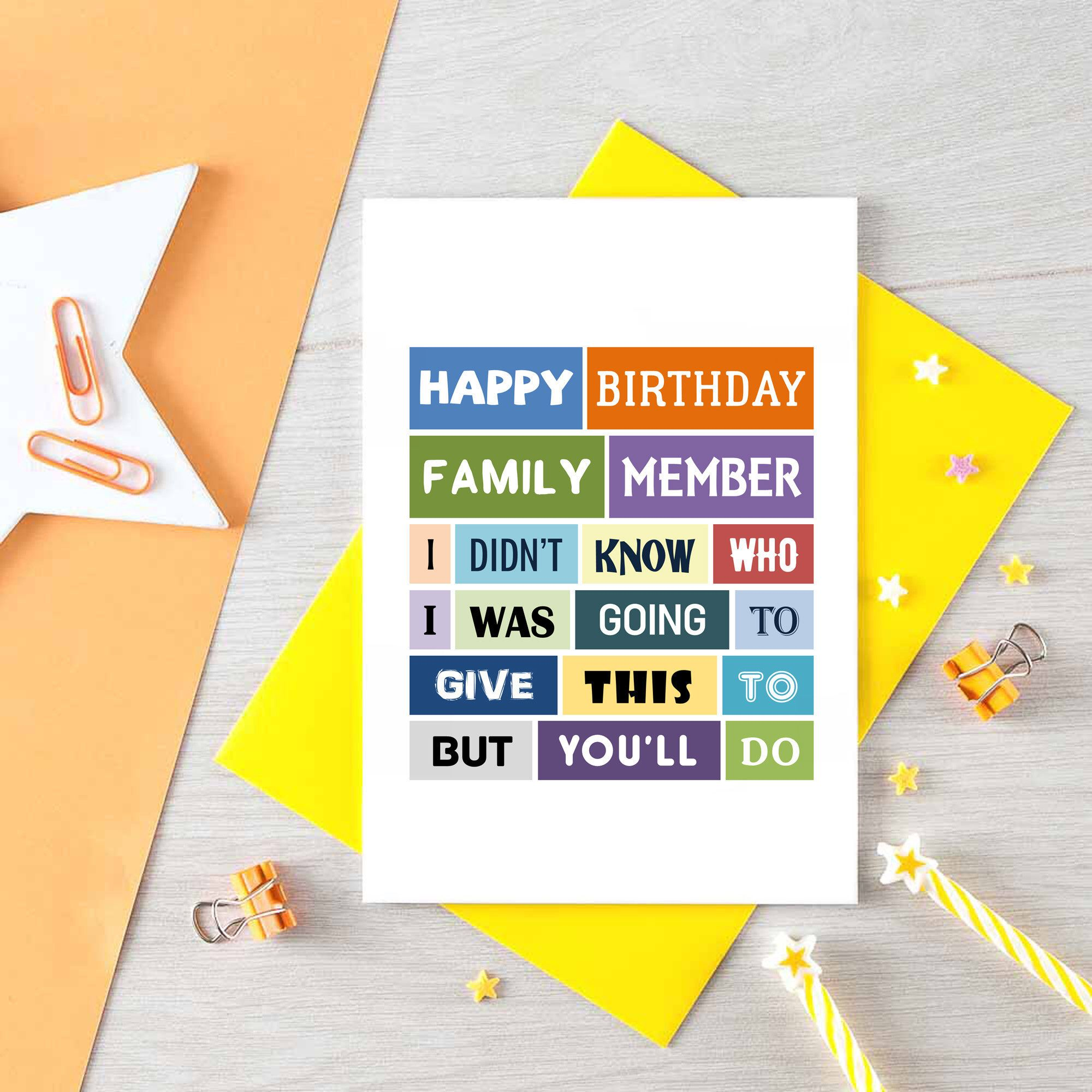 Funny birthday card for brother sister birthday card