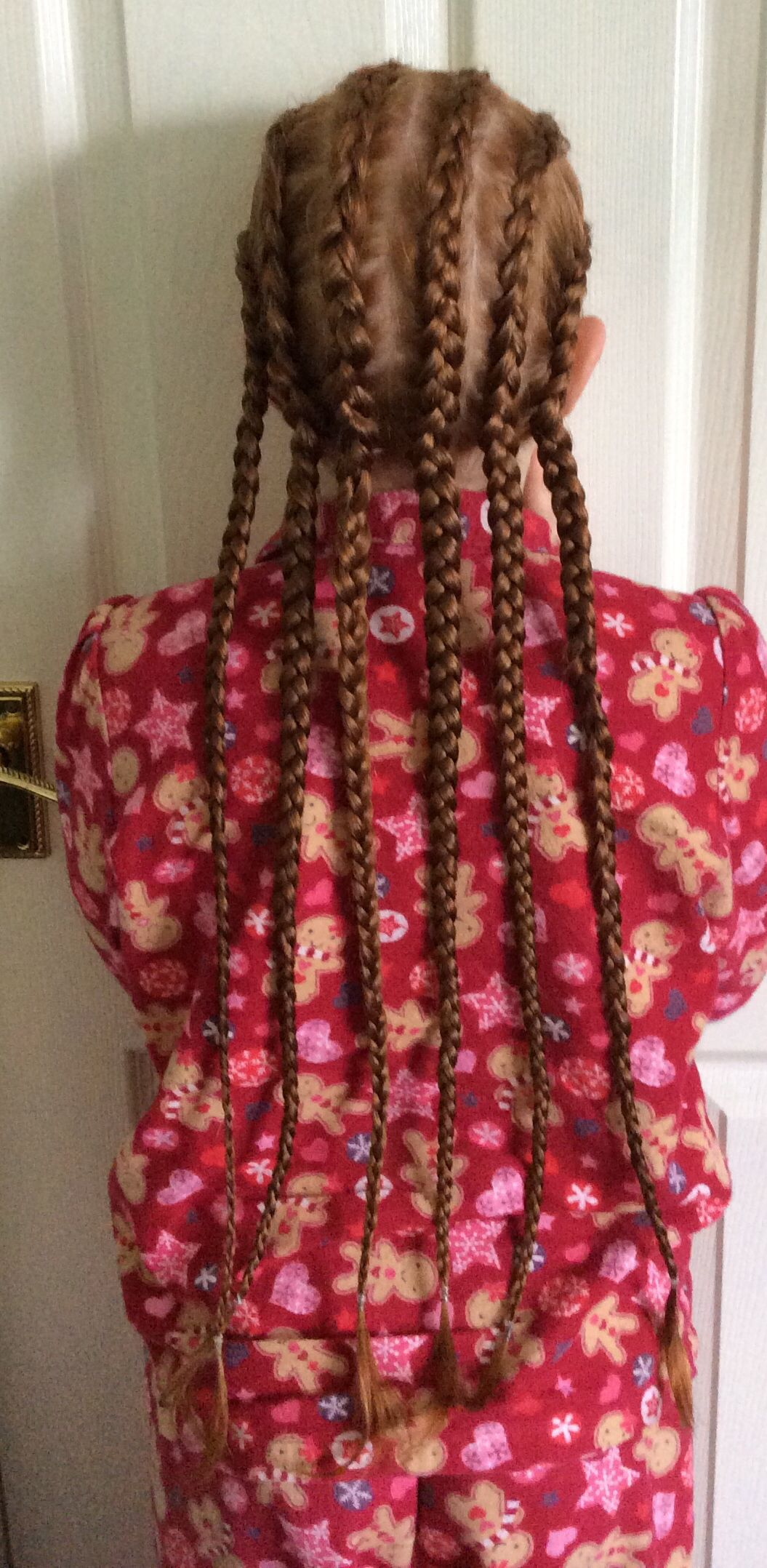 Spent all morning putting cornrows in. Hoping they will last for a while. | Mint hair, Cornrows ...