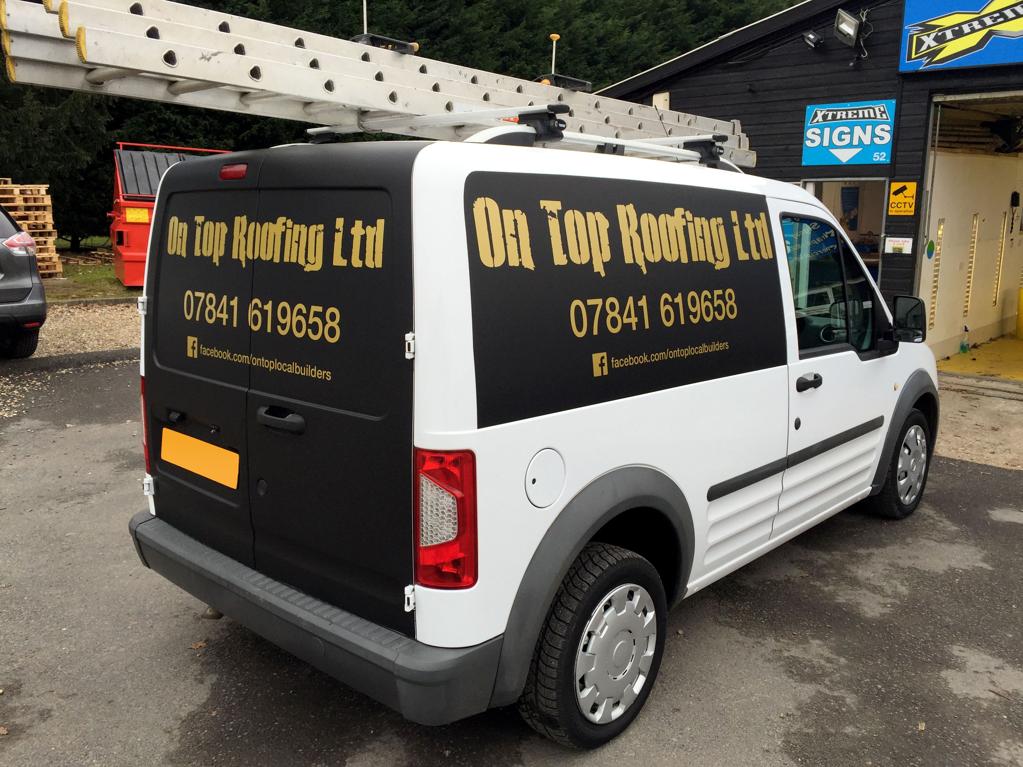 Xtreme Signs Partial Wrap Of Matte Black On Sides And