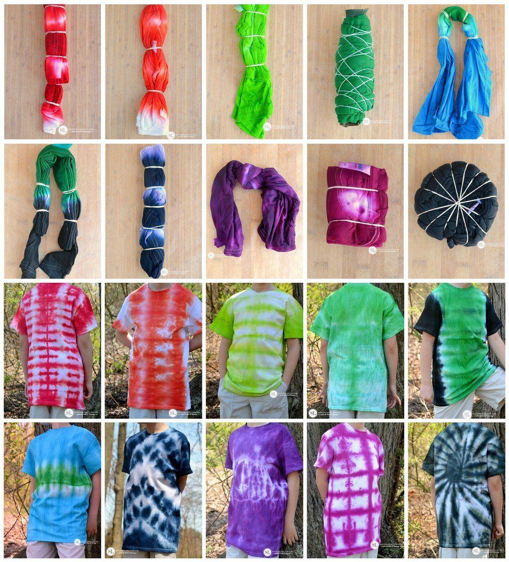 Tie Dye T-Shirt Folding Techniques   10 vibrant ti