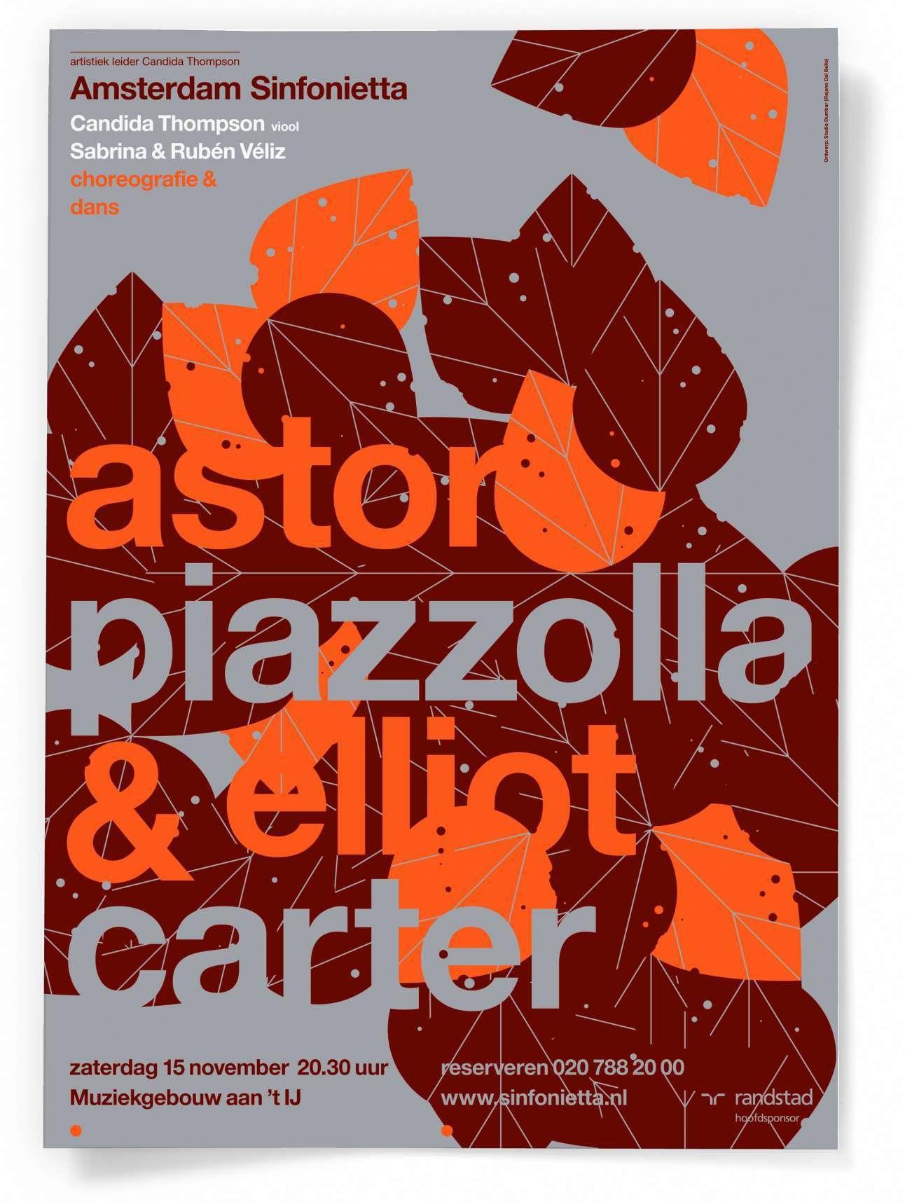 Poster Amsterdam Sinfonietta By Studio Dumbar Graphic Poster Typographic Poster Design Graphic Design Posters