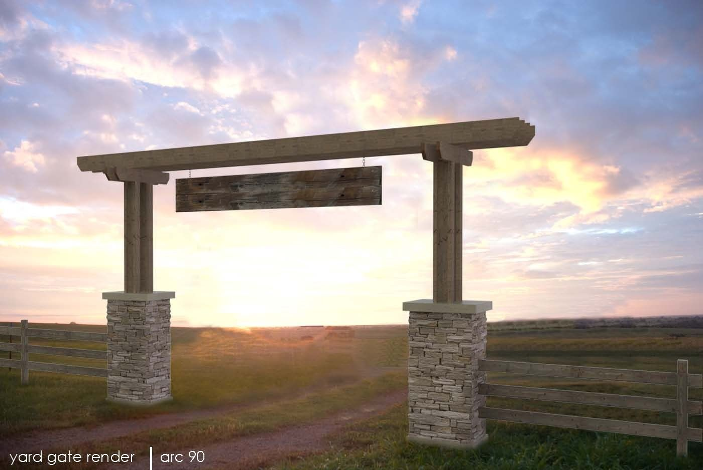 Ranch entrance ideas david heaton ranch entry gate for Ranch entrance designs