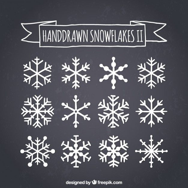 Download Hand Drawn Snowflakes On Blackboard for free
