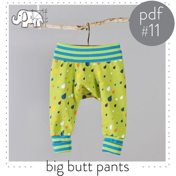 Sewing pattern pdf for baby and toddler big butt pants -Easy photo ...