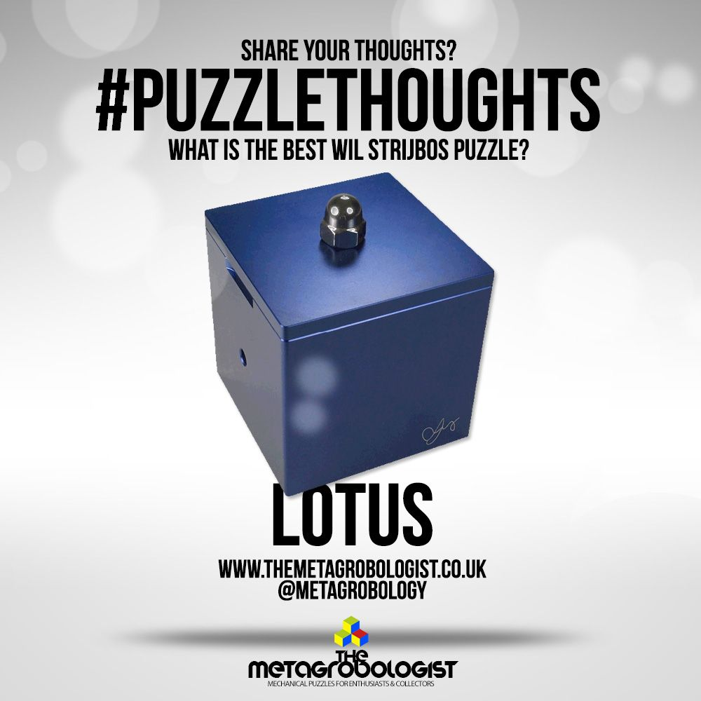 Today We D Like To Know If You Have The Lotus Puzzle By Wil Strijbos Mechanicalpuzzle Metal Puzzles Twisty Puzzles Puzzle