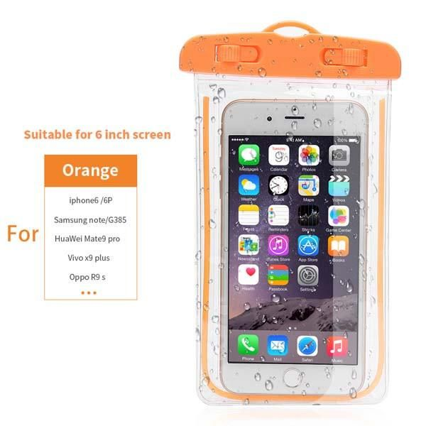 Luminous Waterproof Bag Underwater Pouch Phone Case For Iphone Samsung Galaxy Huawei Xiaomi Redmi Cell Phone Universal All Model Phone Bags & Cases Phone Pouch