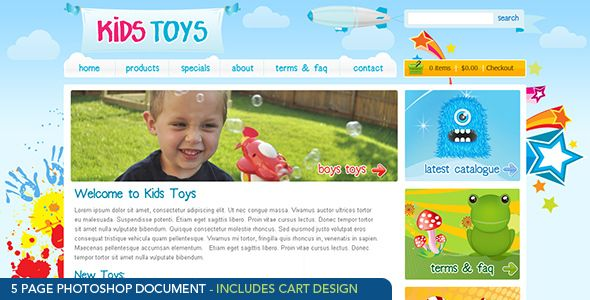 kids toys psd template kids has features such as high resolution no