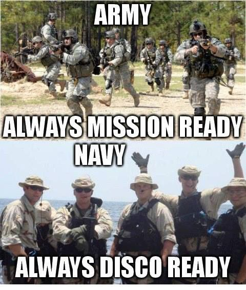 Usarmy Always Mission Ready Usnavy Always Disco Ready