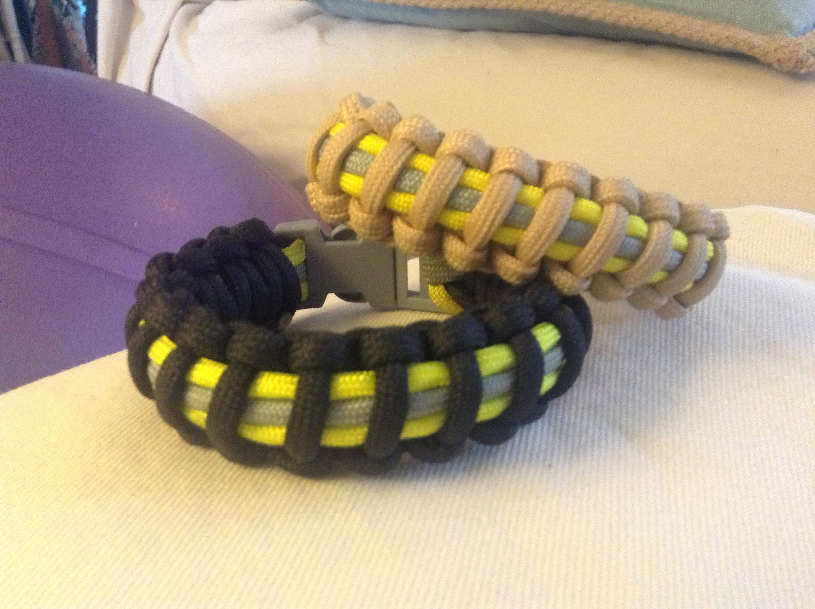 Firefighter Bunker Gear Paracord Bracelet Fire Hose Crafts