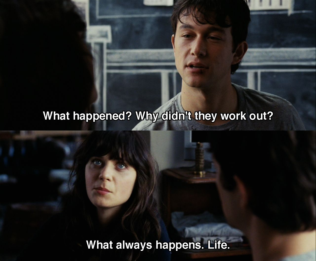 What happened last night movie quote