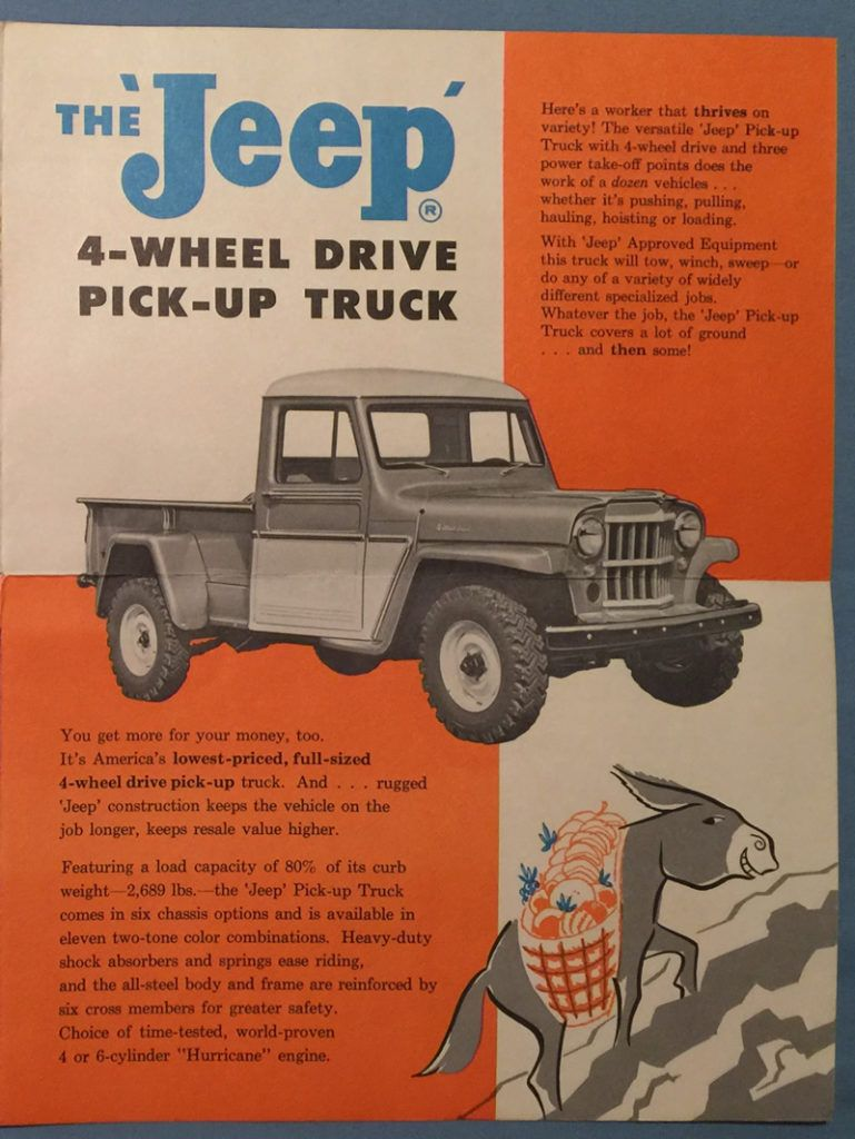 1961 07 Jeep Family Brochure Working3 Lores Willys 1950 Pickup Truck Wagon