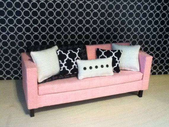 Light pink sofa Monster High Furniture by ItsPerfectlyPetite, $40.00