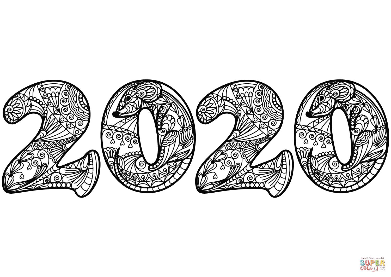 ausmalbild 2020 zentangle  ausmalbilder kostenlos zum