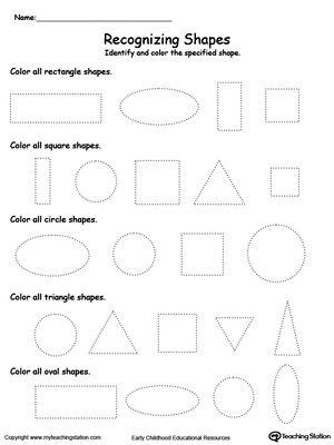 recognizing shapes shapes worksheets shapes worksheets shape worksheets for preschool. Black Bedroom Furniture Sets. Home Design Ideas