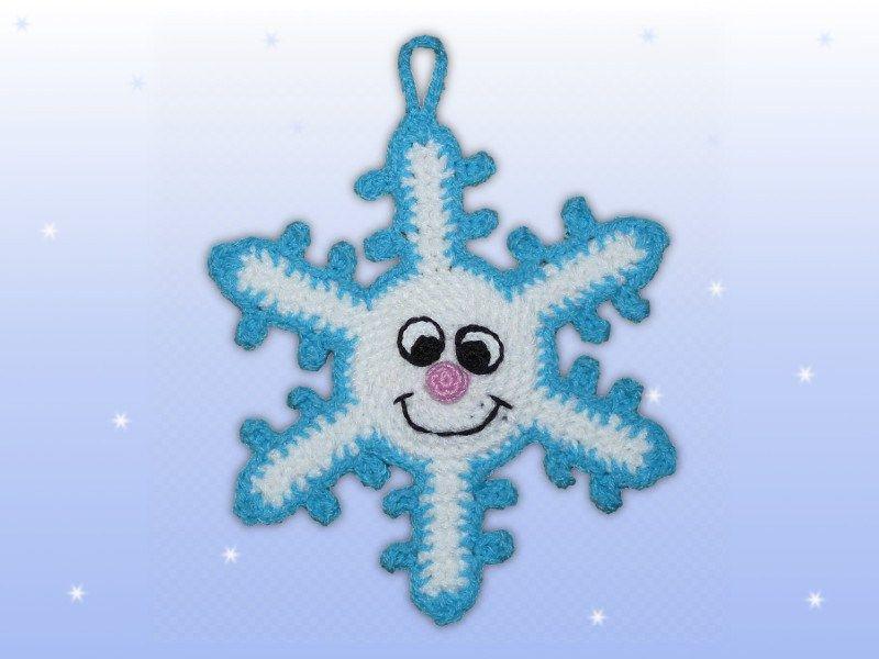 weihnachtlicher adventskalender häkeln Schneeflocke | Weihnachten ...