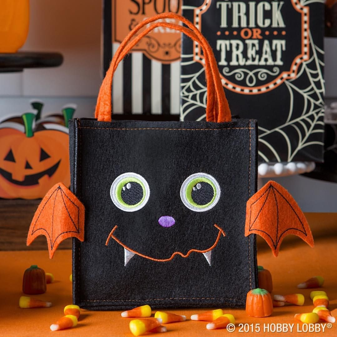 Don\u0027t forget a candy bag they\u0027ll go batty for! #Halloween - Hobby Lobby Halloween Decorations