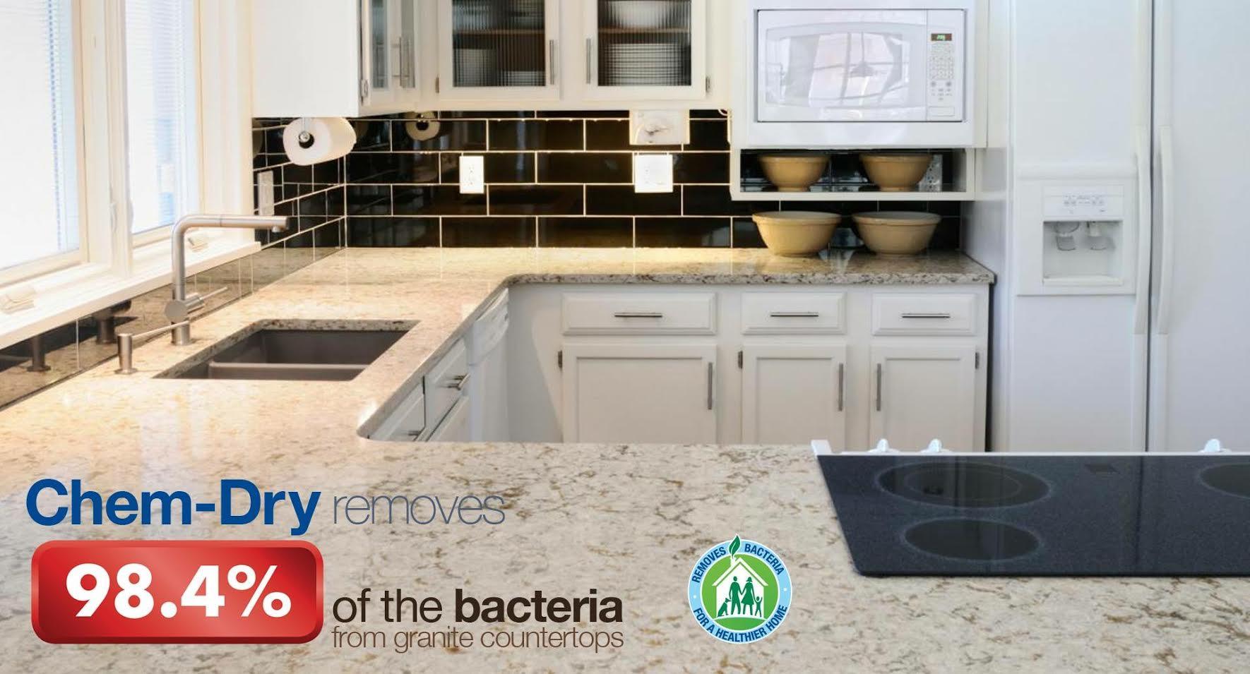 We Remove 98 4 Of Bacteria From Your Granite Countertops Call Johnson Cou White Granite Countertops White Granite Countertops Kitchen White Granite Kitchen