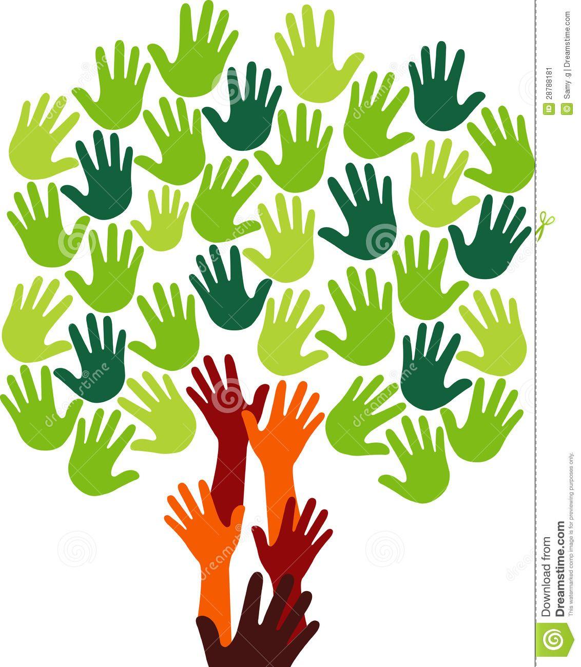 Hands Tree Logo Royalty Free Stock Photo Image 32535265
