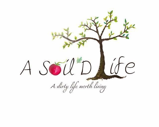 A Soil'd Life: Holistic Health Coach logo design (hand painted)