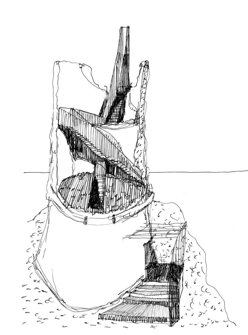Cherubino Gambardella, Peppe Maisto · Belvedere and shelter for mountaineers in the Ziro Tower