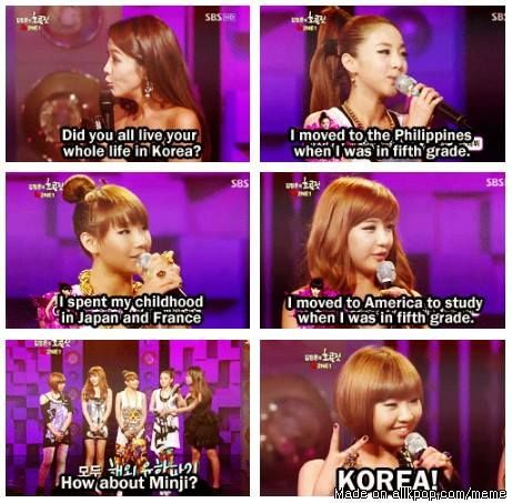 2ne1. wow! I never knew! super awesome! lol Minzy.