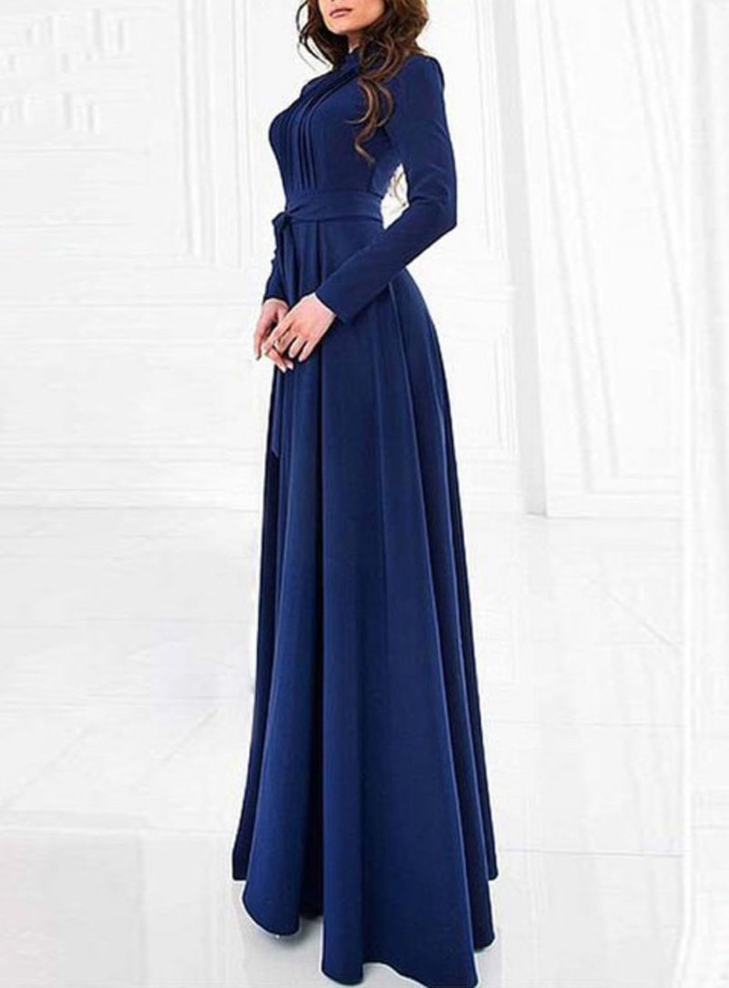 cheap Fvogue Slim Long Sleeve High Collar Pure Color Maxi Dress  Online-fvogue.com fa15a5c32