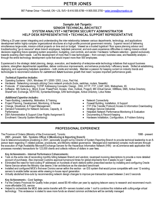 Technical Resume Examples Senior Technical Architect Resume Sample  Sk  Pinterest