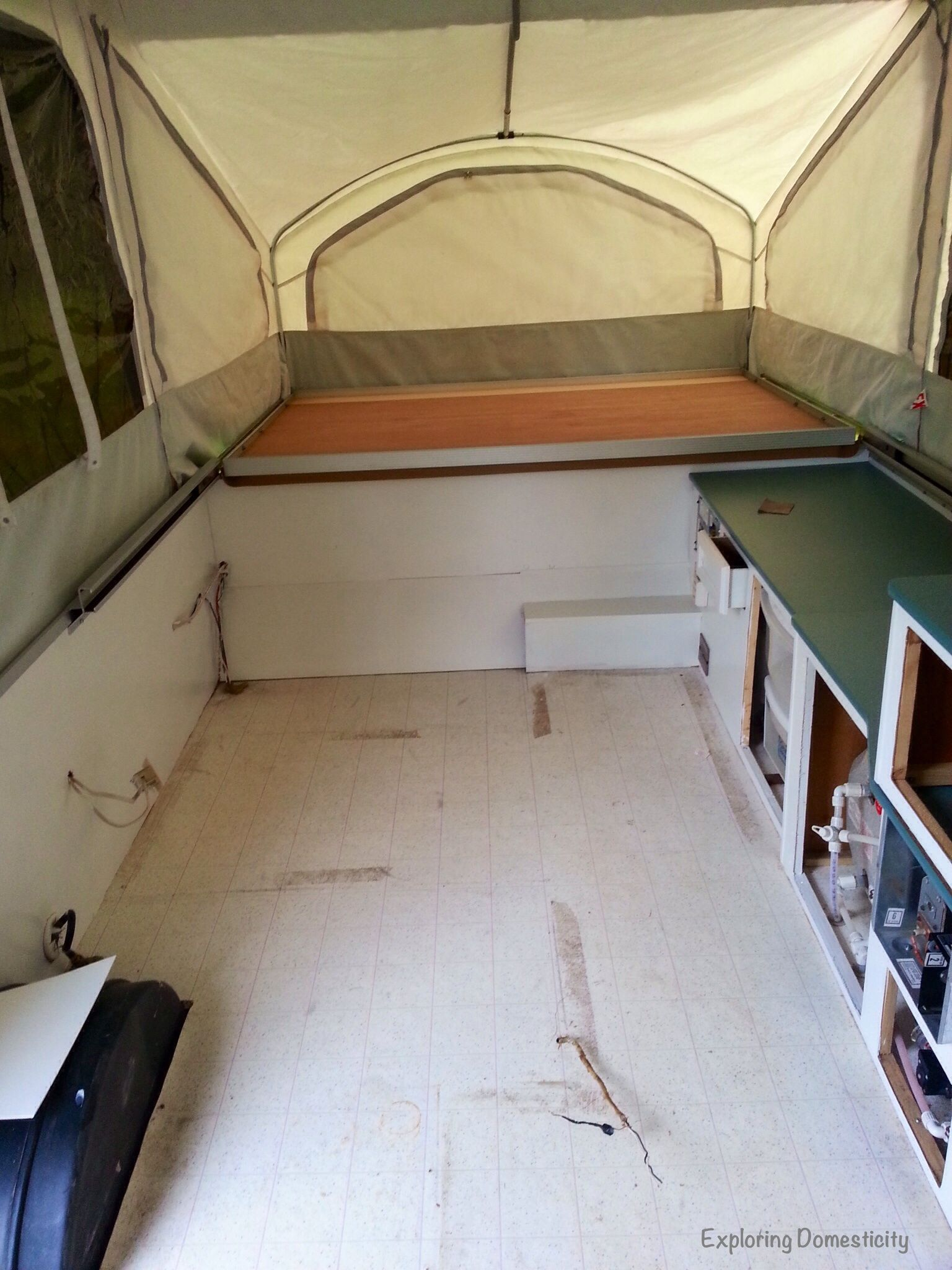 Pop Up Camper Remodel Painting And Flooring With Images Best