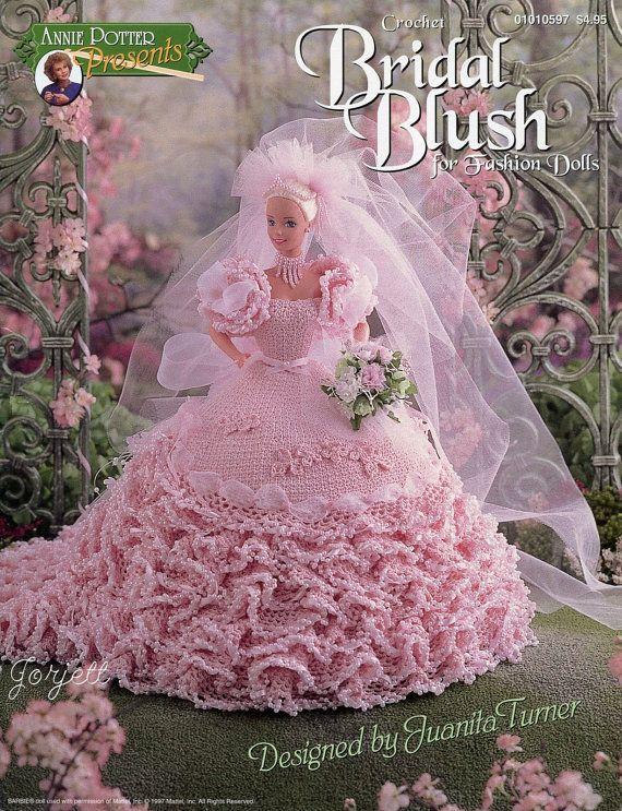 Blush Master häkeln Brautkleid für Modepuppe Häkelanl... für ...