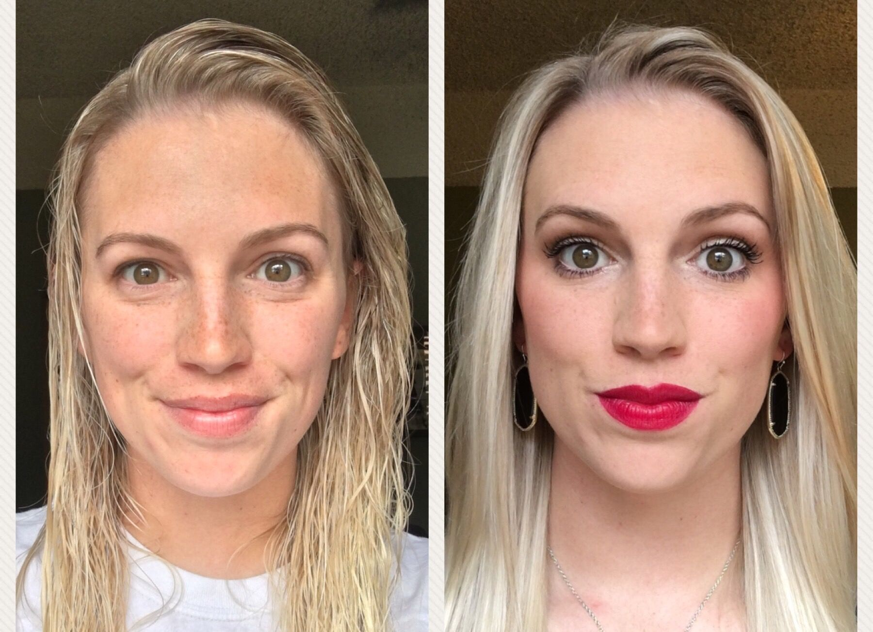 Before and after using only Younique makeup! Natural