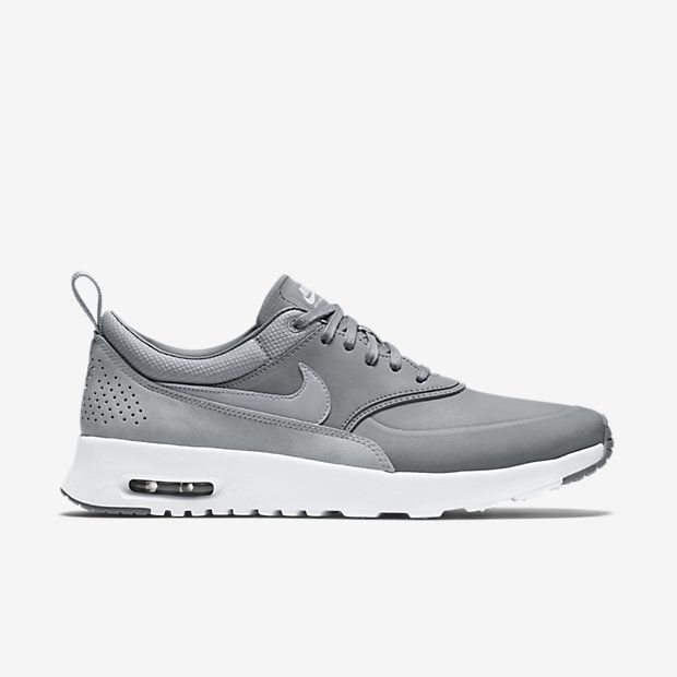 womens nike air max thea premium running shoes white black