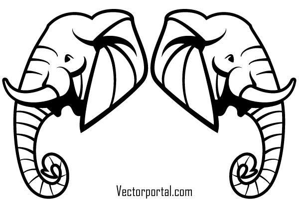 Free Elephant Head Vector Art Elephant Head Drawing Elephant Clip Art Elephant Illustration