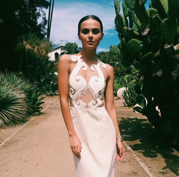 Xenia wearing a fabulous dress and Cristina Ramella World Cuff // Cristina Ramella Jewelry