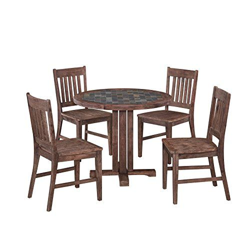 Delicieux Bowery Hill 5 Piece Dining Set In Wire Brushed