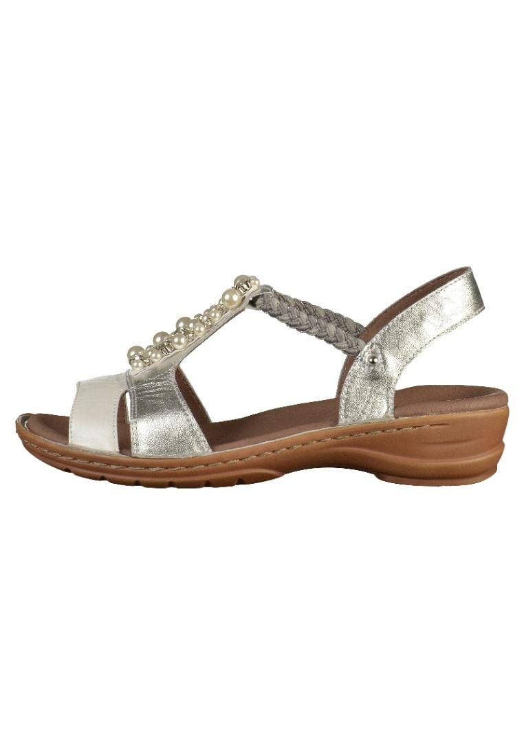 size 40 d2284 05b23 ara Sandalen - silver/white - Zalando.nl   Ara - Sandals ...