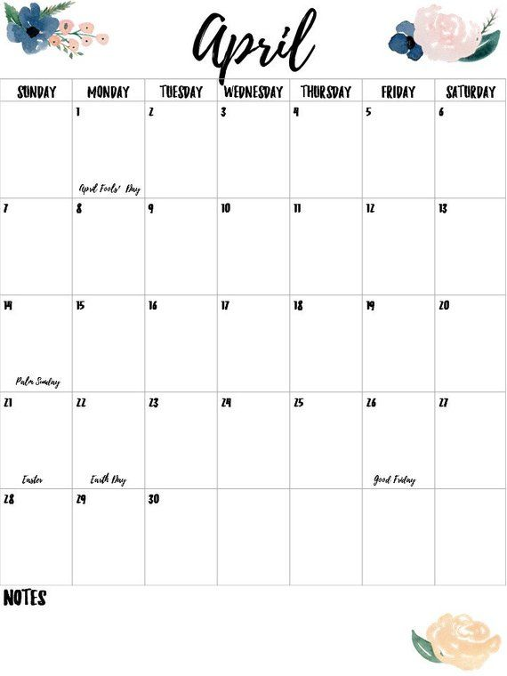 image about Calendar Notes named 2019 Army and Blush Floral Calendar Solitary Web page- Vertical
