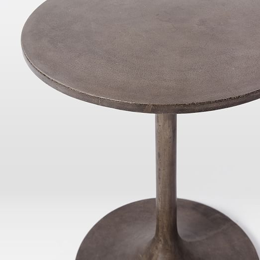 Our Concrete Pedestal Side Table Is A Polished Take On Minimalist Design.  Casted From Concrete, Each Tableu0027s Base Is Subtly Unique.