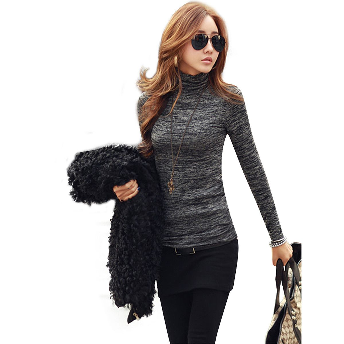 ZANZEA Women Casual Knitted Pullover Sweaters 2017 Fashion High ...
