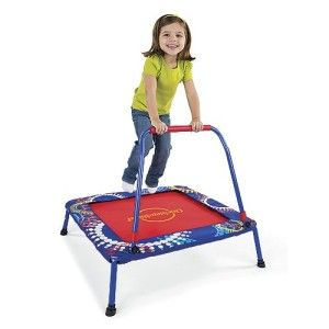 Jumping on a trampoline strengthens muscles.