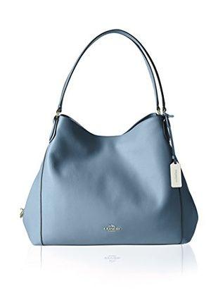 Bolsos de mujer Coach bolso de hombro con logo Azul
