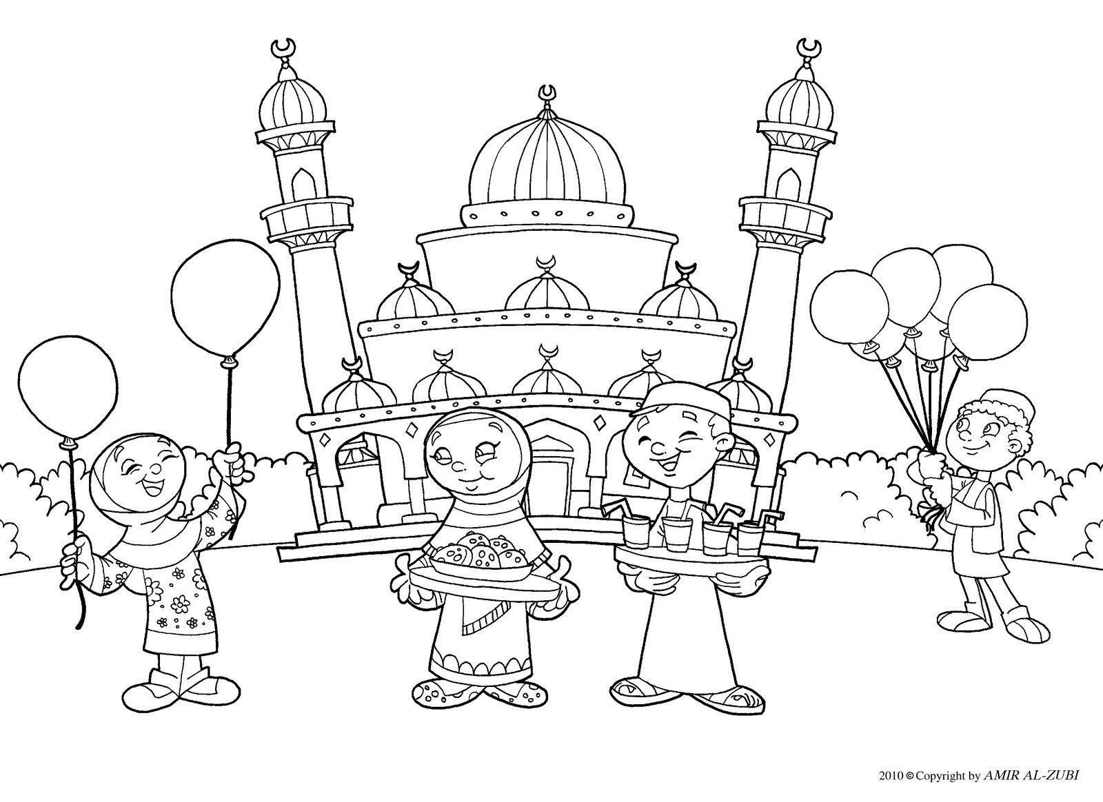 Jawaher kids&Nis¢a صور إسلامية لتلوين لصغار، تلوين متعة و تسلية للأطفال