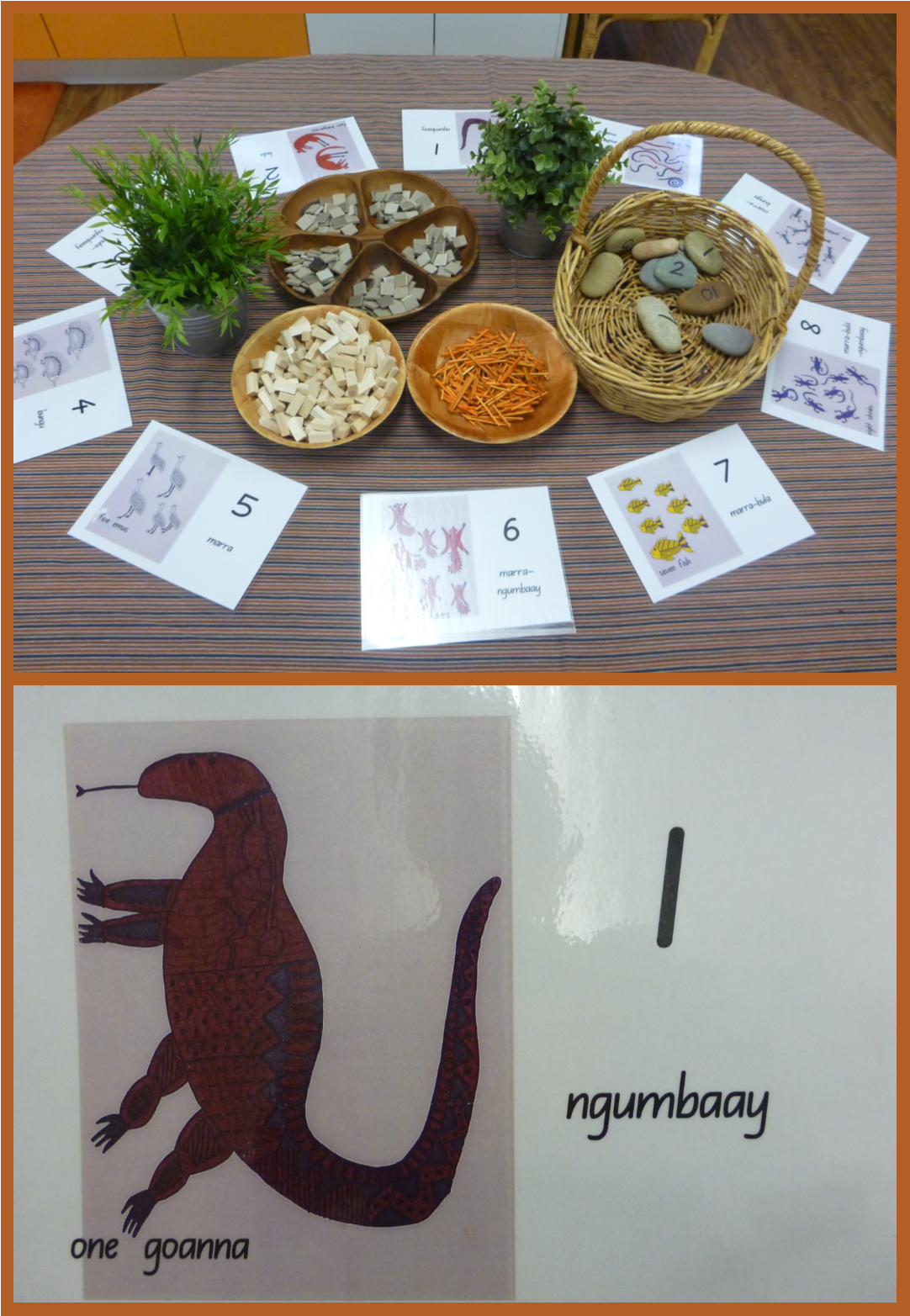 Using A Range Of Materials For Counting With Wiradjuri