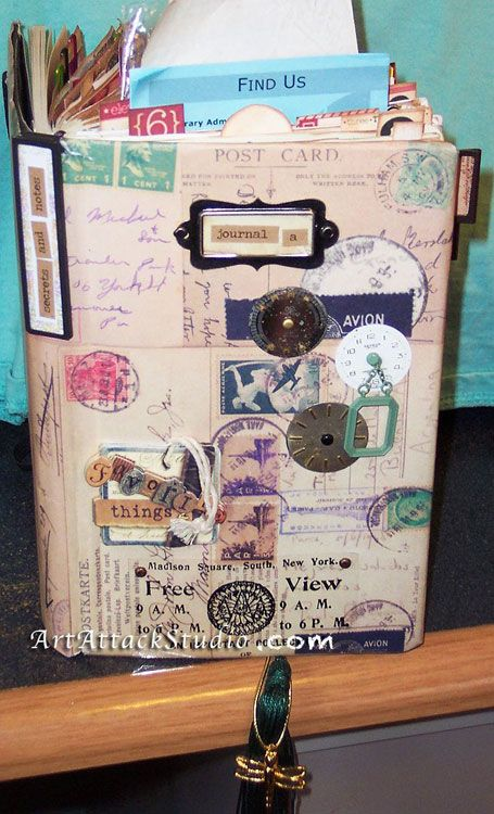 Art Journal Junk Journal Scrapbook Ideas Moleskein Glue Book
