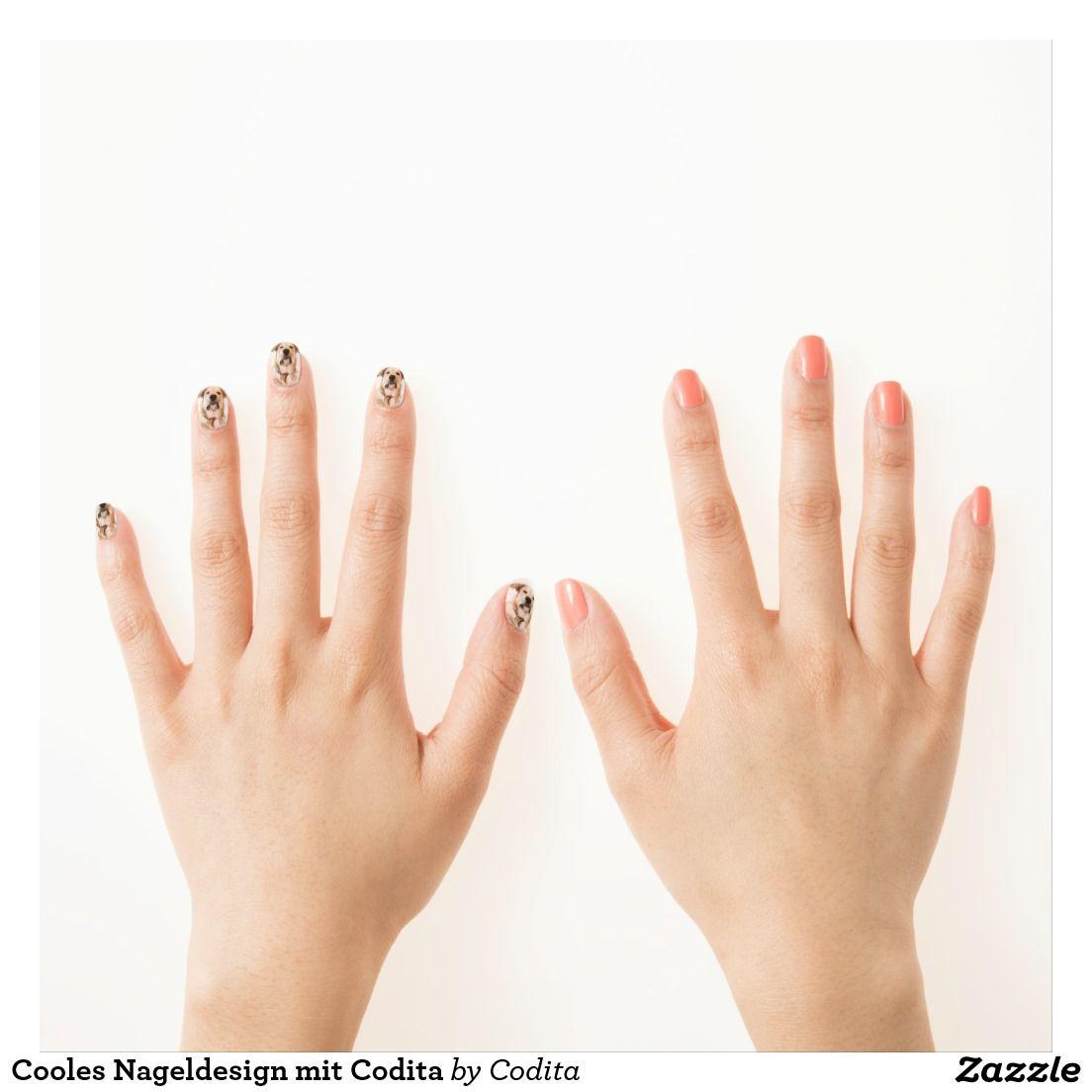 Cooles Nageldesign mit Codita Minx Nagelkunst   Nagelsticker ...