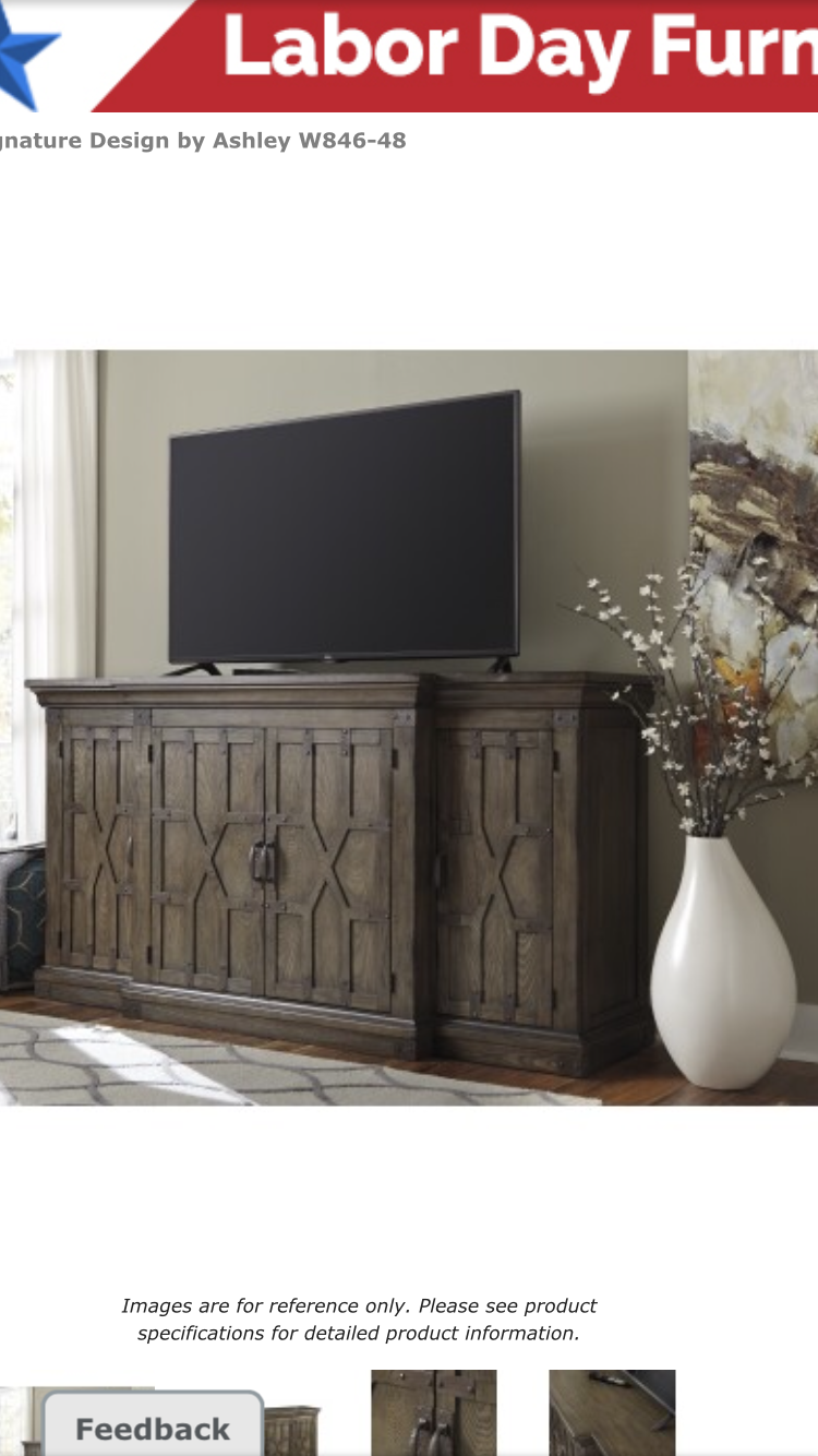 Get Your Burladen   Grayish Brown   Extra Large TV Stand At Furniture Land  Ohio, Columbus OH Furniture Store.